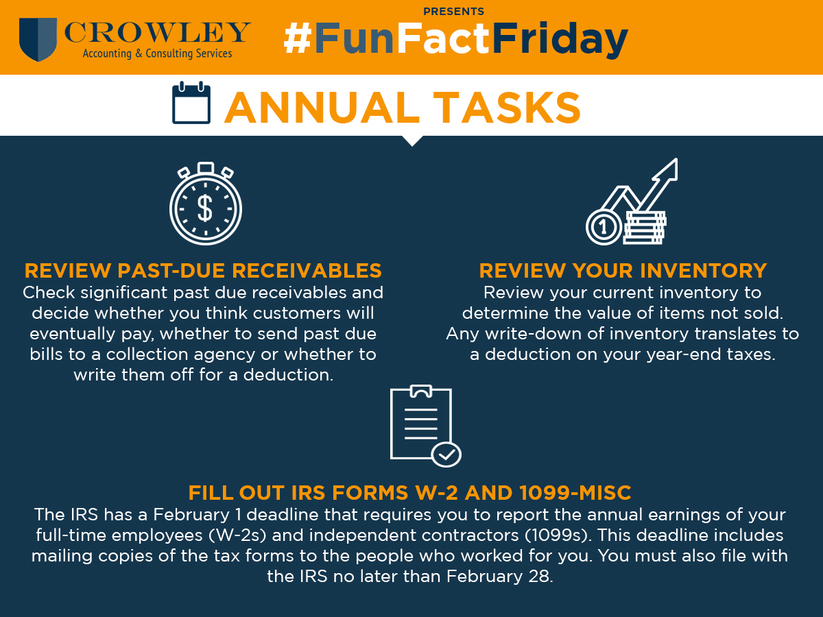 Small Business Year-End Accounting Tasks   Crowley